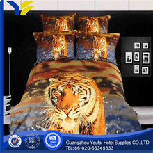 china wholesale satin fabric double /single/ queen size 3d bedding set