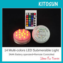 Fashional Round Shape 14 Superbright Multi Color LED Submersible Lights Special For Paper Lantern