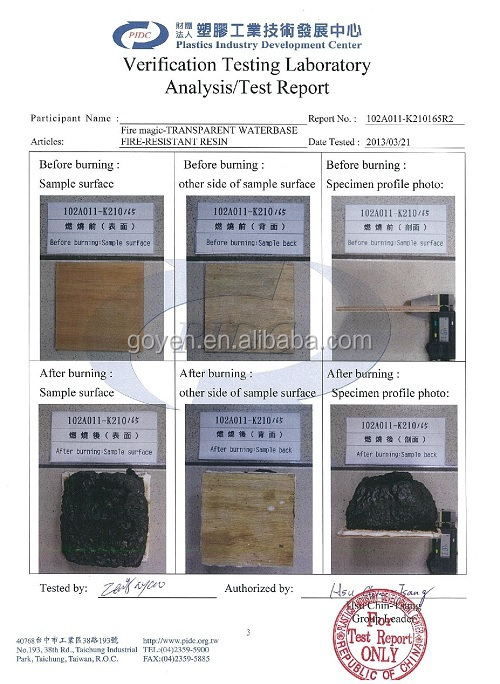Intumescent fireproof coating for wood