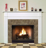Nature stone granite & marble electric fireplace no heat