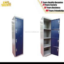 4 compartment steel locker/steel bedroom locker in hot sale 4 tier vertical steel locker