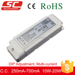DALI DIP adjustment constant current led dimming driver power supply 20w 220v