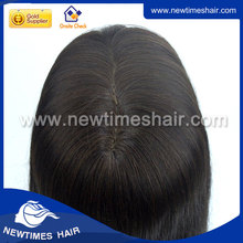 Silicon human hair wigs white women