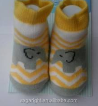 Baby Elephant Animal Knitted and Jacquard Soft Cotton Socks