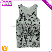 Men's 100% Cotton Jersey Tank Top With Full Printing