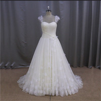 real sample mermaid champagne islamic bridal wedding gown
