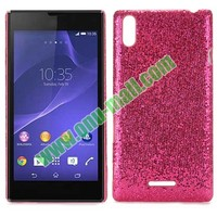 Glitter Powder Pattern Leather Coated Hard Case for Sony T3 M50W