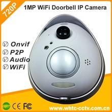 1MP 720P PIR P2P Wireless Wifi ip video door phone