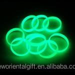 Custom Noctilucence Silicone Bracelets, glow in the dark Silicone braceletes