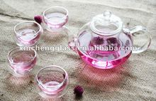 Chinese Style decal Heat-resistant glass tea maker