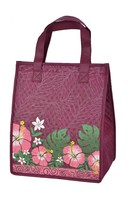 water Lily printed polyester fashion tote bag