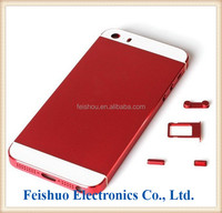 Mobile Phones Replacement Housing for iPhone 5 5G Gold Housing Back Battery Door Case Cover Middle Frame