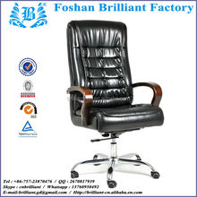 Luxury Wooden High Back Swivel Leather Executive Office Chair with Wooden Armrest BF-8916A-1
