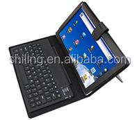 PU Leather 10 Inch Tablet Bluetooth Keyboard Case , bluetooth wireless keyboard