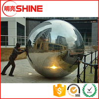 Chinese steel ball manufacturer AISI 304 316 mirror finished hollow gazing ball wholesale