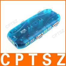 4 Port Auto KVM Switch Box Keyboard Mouse Monitor