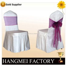 Foshan manufacturer polyester chair cover with sash for sale