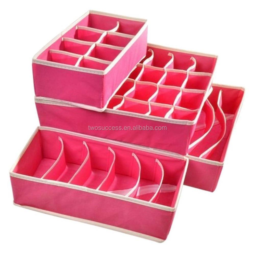 Pink Nonwoven Fabric Drawer UnderwearOrganizer