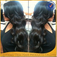 Cheap body wave sexy Indian virgin remy hair full lace wig with baby hair