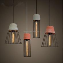 2015 hot selling industrial vintage style hanging exclusive concrete lamp pendant