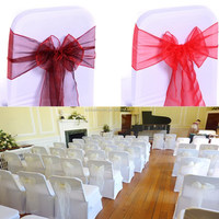 Factory Supply Direct Selling Chair Organza Sashes