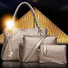 Brand women handbags manufacturer handbags ladies 2015 3pcs in 1 set SY6047