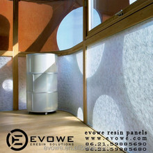 hotel interior acrylic resin partition