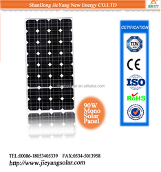Hot sale high effective 90W mono solar panel manufacturers in China