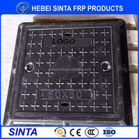 500*500 light duty composite GRP FRP manhole cover with handle