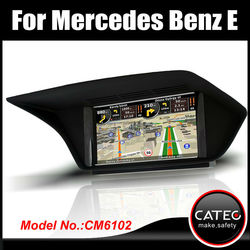 "OEM 7"" in dash double din auto gps navigation dvd player bluetooth touch screen head unit for mercedes benz E220 CDI"
