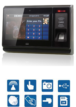 Biometric access control time attendance software, card reader writer software, multi-language with attendance sheet and payroll