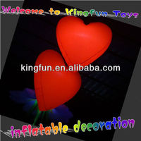 Red Valentine's Day heart inflatables