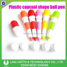 Cute Professional Colorful Plastic Capsule Ballpoint Pen,Capsule Pen,Retractable Pen