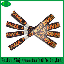 Wristband printing machine customzied woven polyester festival wristbands for music party