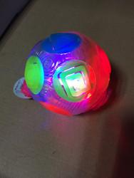 80mm TPU air light up toy bounce ball ,light up rainbow ball