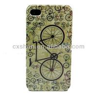 Bicycle Retro Design Hard Skin Case Cover for Apple iPhone 5S/5C