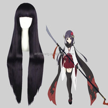 Wholesale 40Inch Long Straight Purple Cosplay Hair Wigs Boku Secret Service Shirakiin Ririchiyo Synthetic Anime Wig Party Wig