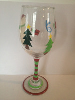 Promotion shanxi new latest design hot selling hand painted wine glass