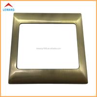 Custom cheap antique brass plating touch wall switch plate, zinc alloy metal light wall switch plate