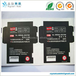 Self adhesive custom aa battery label