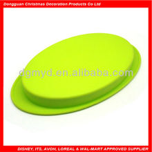 Special and nice oval shape flat silicone bowl
