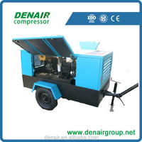 12 VPortable Diesel mobile screw air compressor for water well drilling