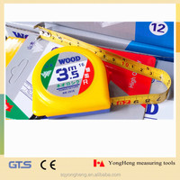 New Arrival Double-sided printing measuring tape 3.5 Meter/12ft, popular in Japan wood tape measures