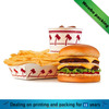 High quality customized cardboard food paper tray or box for hamburger