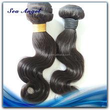 Precio de fábrica de cutículas del pelo brasileño de la venta negro de la muchacha de la virgen de la muchacha