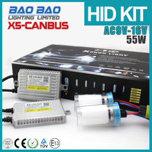 Chinese Products Sold 55W car headlight, xenon work light hid 12v, slim canbus ballast car hid kits canbus X5 AC 55W , BAOBAO Li