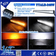 Y&T 240W Car Strobe Light bar 41.5inch yellow led flashlamp Police vehicle EMS lights for truck emergency Fog light DC 12V D