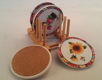"""Pinsun""round shape ceramic coaster"