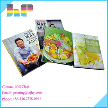 Customer design print high quality cooking book printing service
