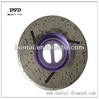 Diamond whole fritted disc for edge grinding